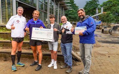 Marathonpater Tobias erläuft 42.195 EURO für Hochwasseropfer